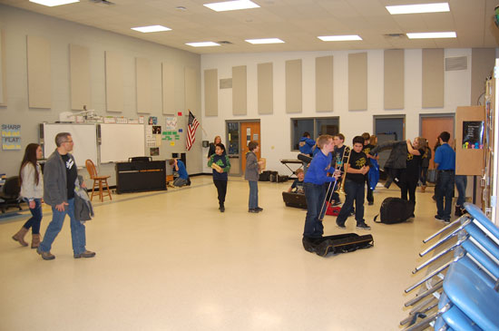 The new band/music room.