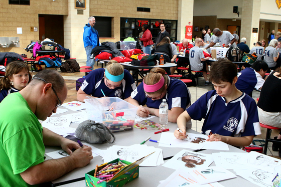 National ahonor Society, WUHS Student Council and WUHS Key Club volunteered to put together coloring and crafts for the athletes.
