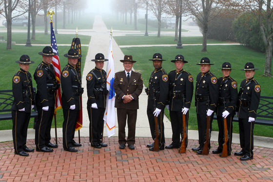 This was the debut of the new uniforms for the Sheriff's Department Honor Guard.