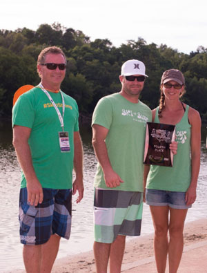 Aquanuts Show Directors accept 4th place award. /Photo by Lisa Neal Photography