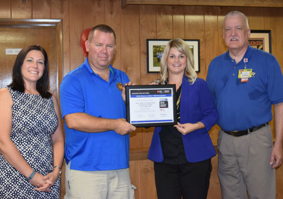 From left: Katie Connolly – Metro Executive Director – American Heart Association;  Thomas Smith – EMS Chief TLR&R;  Lynn Serdynski – Director of Quality – American Heart Association, Wisconsin: Tony Lash – EMS Coordinator – Aurora Memorial Hospital of Burlington. /Contributed photo
