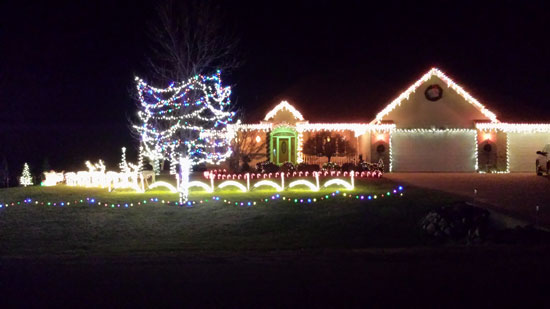 A sample of the Batassa family light show this year. /Submitted photo