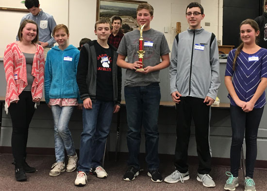 Second place winners for overall team score: Randall Consolidated School. /Submitted photo