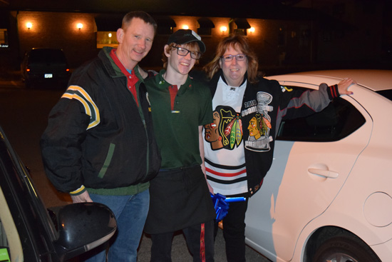 Jeff Barber, Liam Barber and Patty Laverty. /Contributed photo