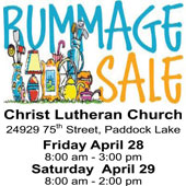 A word from our sponsors: Christ Lutheran Church's Annual Rummage