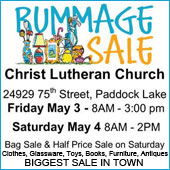 A word from our sponsors: Christ Lutheran Church rummage sale is May