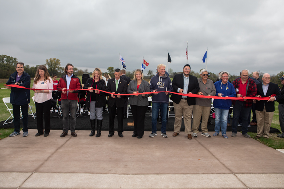 County Board members cut the ribbon.