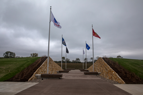 Honor Plaza flags